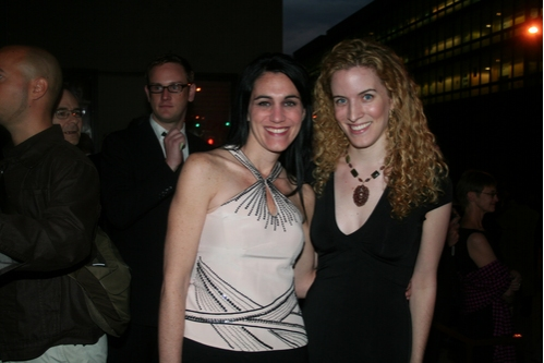 Leigh Silverman and Liz Flahive at 2008 Drama Desk Awards Pre Party & Arrivals
