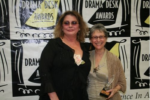 Elizabeth Ashley and Elysabeth Kleinhans at 2008 Drama Desk Awards Press Room & Party
