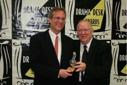 Scott Lehrer and Michael Yeargan at 2008 Drama Desk Awards Press Room & Party