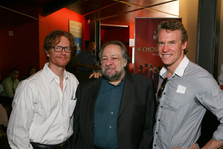 Eric Stoltz, Ricky Jay and Tate Donovan at  Mamet's Two Unrelated Plays Open in LA