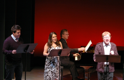 Eric Peterson, Jaclyn Huberman and Anthony Rapp