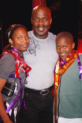 BeBe Winans with children Miya and Benjamin Winans