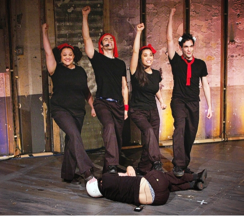 Lynn Andrews, Stephen Reyes,Brooke Ishibashi,Matthew-Lee Erlbach, (on the floor) Stephen Sheffer