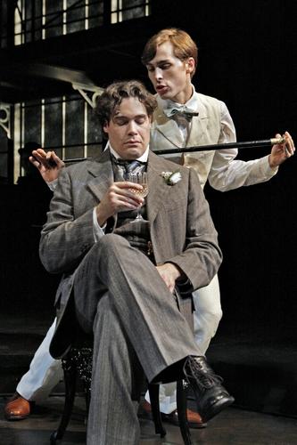Matthew Greer as Oscar Wilde and Brandon Weinbrenner as Lord Alfred Douglas