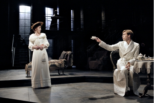 Sarah Agnew as Constance Wilde and Brandon Weinbrenner as Lord Alfred Douglas