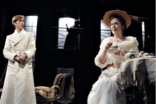 Brandon Weinbrenner as Lord Alfred Douglas and Sarah Agnew as Constance Wilde