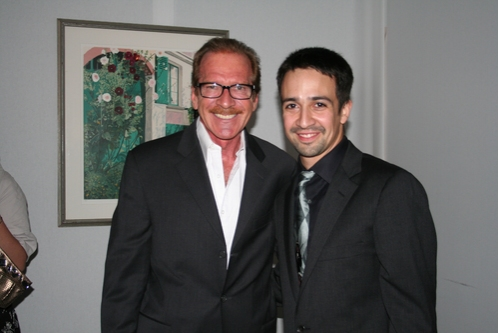 Pat O'Brien (CBS The Insider) and Lin-Manuel Miranda