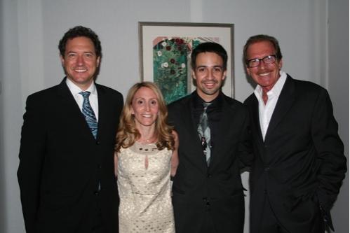 Kevin McCollum, Jill Furman,Lin-Manuel Miranda and Pat O'Brien