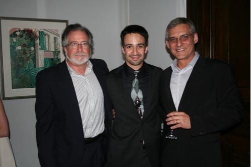 Bob Morris, Lin-Manuel Miranda and Rafael Pi Roman  Photo