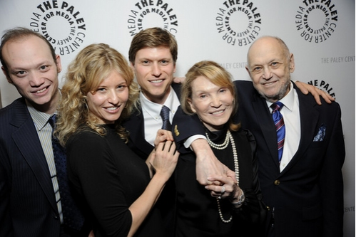 The Strouse family (l-r) WILL, VICTORIA & NICK STROUSE, wife BARBARA SIMAN and CHARLES STROUSE