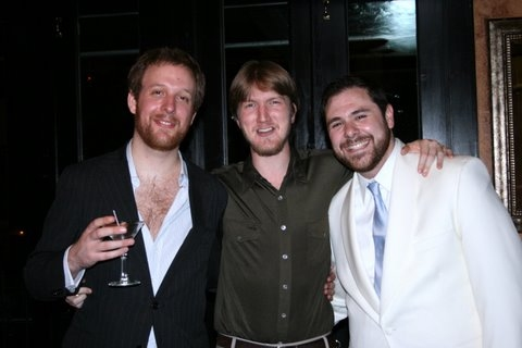 Director Geordie Broadwater, playwright James Carmichael, and Babel Theatre Project's Producing Director Jeremy Blocker