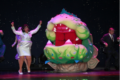 Angela Grovey, Audrey II and Stephen Berger