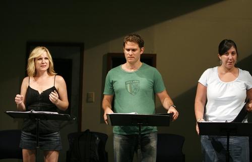 Jessica Capshaw, Steven Pasquale, and Ashlie Atikinson