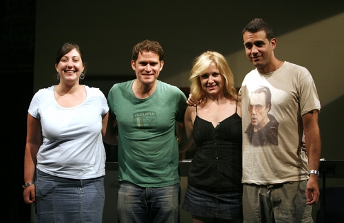 Ashlie Atkinson, Steven Pasquale,Jessica Capshaw, and Bobby Cannavale