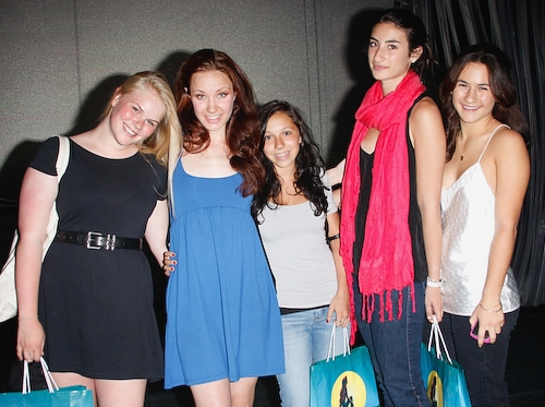 Belle Aykroyd and Sierra Boggess with friends and family