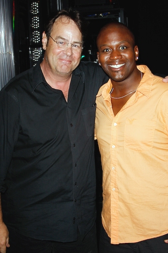 Dan Aykroyd and Tituss Burgess at Dan Aykroyd visits 'Little Mermaid'