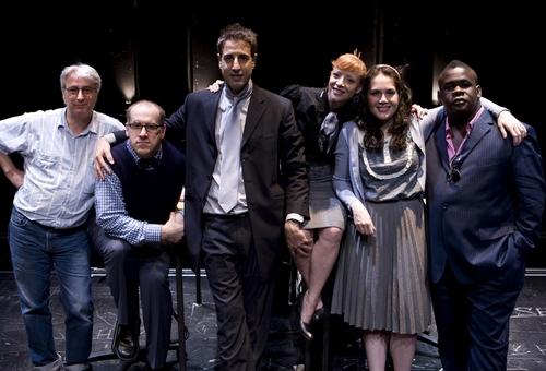 "John Gould Rubin (director) with cast members Michael Puzzo, Julian Acosta, Elizabeth Canavan, Yetta Gottesman and Craig ""muMs"" Grant"