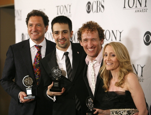 Kevin McCollum, Lin-Manuel Miranda, and Jeffrey Seller, and Jill Furman