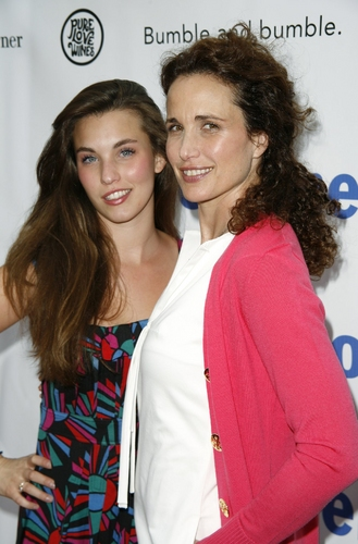 Andie MacDowell and Rainey Qualley