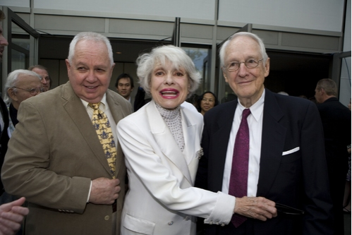 David Moss, Carol Channing and William Schallert
