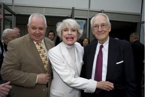 David Moss, Carol Channing and William Schallert