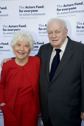 Charlotte Rae and previous Julie Harris Award winner Charles Durning