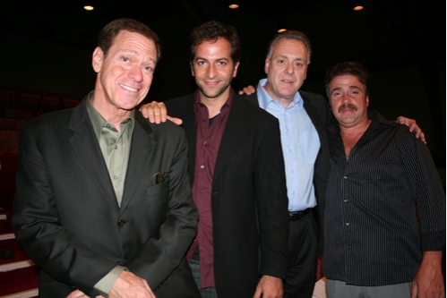 Joe Piscopo, Michael Goldfried (Director), Vincent Gogliormella (Playwright) and Michael Rispoli