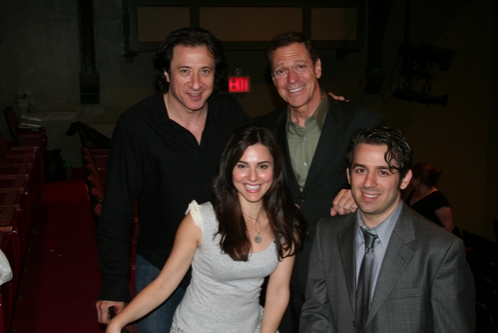 Federico Castelluccio,Cara Buono, Joe Piscopo and Aaron Grant at 'Six Goumbas and a Wannabe' Reading