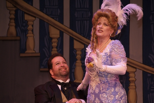 Jamie Snyder (as Diamond Jim Brady) and Dale Kristien (as Lillian Russell)