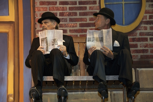 Alan Rachins and Michael Hill as the devious and dasterdly James Skimmer and Manny Kahn