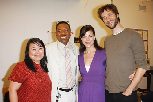 Cast members Carmen M. Herlihy, Dathan B. Williams, Jennifer Regan and James Watersto Photo