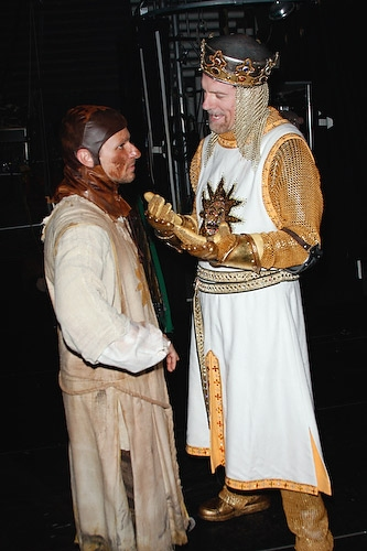 A King and his loyal manservant , Drew Lachey and Stephen Collins