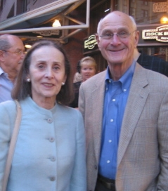 Board member Phyllis Adelson and husband David of Boston