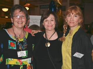 Valerie LaCount with Vivian Shoolman and alumna Tracy Keegan of Wayland