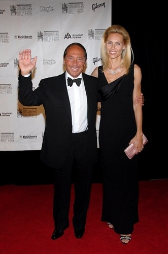 Paul Anka and Anna Yeager at 2008 Songwriters Hall of Fame Awards