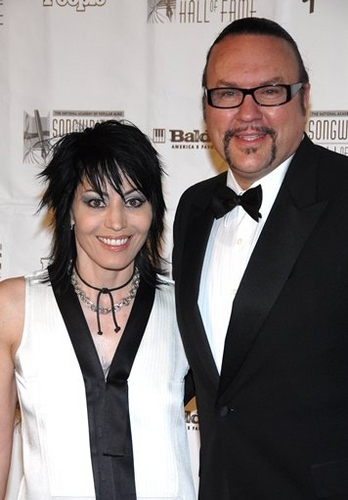 Joan Jett and Desmond Child