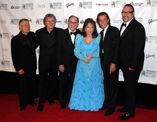 Alan Menken, John Sebastian, Hal David, Loretta Lynn, Albert Hammond, and Desmond Child