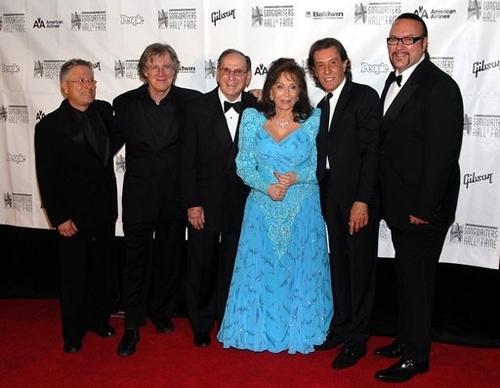 Alan Menken, John Sebastian, Hal David, Loretta Lynn, Albert Hammond, and Desmond Child