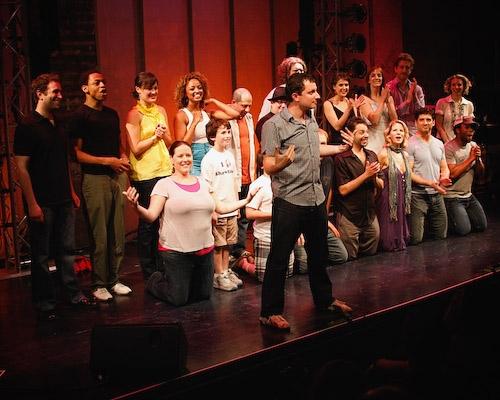 Dan Lipton and the cast