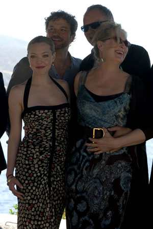 Amanda Seyfried, Colin Firth, Stellan Skarsgard and Meryl Streep at  'Mamma Mia!' Film Stars Visit Greece