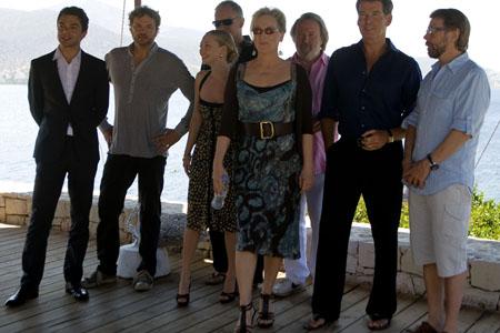 Dominic Cooper, Colin Firth,Amanda Seyfried, Stellan Skarsgard, Meryl Streep, at  'Mamma Mia!' Film Stars Visit Greece