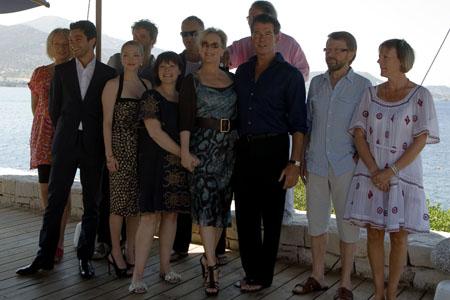 Photo Coverage:  'Mamma Mia!' Film Stars Visit Greece