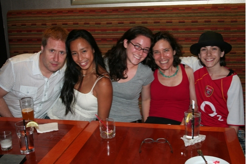 Brian Noonan,Mayumi Miguel, Charly Hodges, Jane Hodges and Henry Hodges