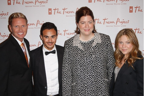 Charles Robbins, Adamo Ruggiero, Sarah Tomassi Lindman, and Lauren Collins at The Trevor Project Honors Cumming at Gala