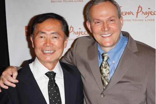 George Takai and Producer Brad Altman at The Trevor Project Honors Cumming at Gala