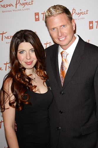 Heather Matarazzo and Trevor Project Executive Director Charles Robbins