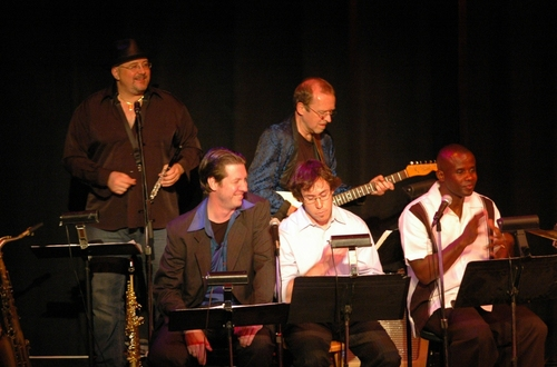 The Men of The Radio Broadway Singers-James Sasser, Matty D. Stuart, Dwayne Clark and band members David Richards and George Naha
