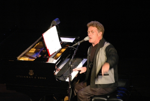 David Keyes-Musical Director doing his best Jerry Lee Lewis Great Balls of Fire