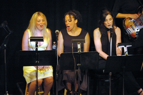 The ladies of the Radio Broadway Singers-Marissa Caro, Jean Michelle Grier and Deb Lyons