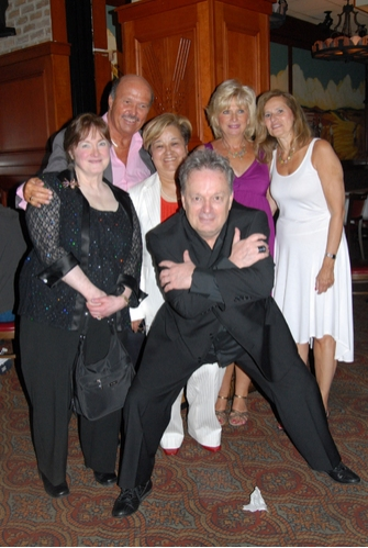 Charles Amann author of a book that focuses on the dancers of American Bandstand with the dancers, Joyce Shafer Roth, Eddie Kelly, Carmen Jimenez, Marilyn (Brown) Kernan and Diane (Iaquinto) Celotto at Radio Broadway After Show Party At Heartland